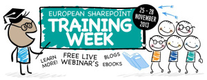 European SharePoint Training Week from the 25 – 28 of November