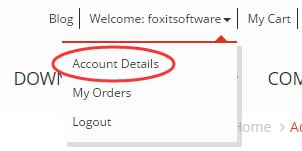 What's a Foxit account and how do I find my order information?