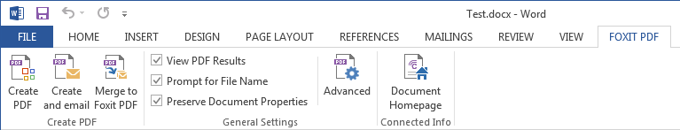Create PDFs from within Microsoft Office