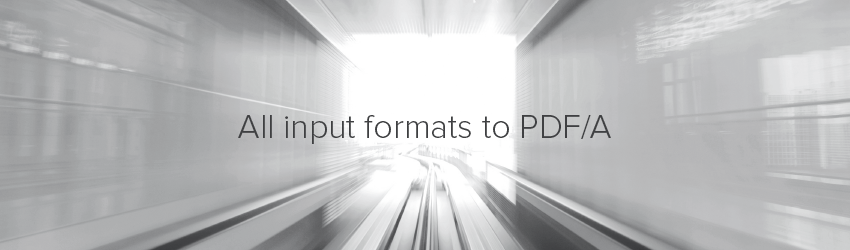 Webinar: All input formats to PDF/A