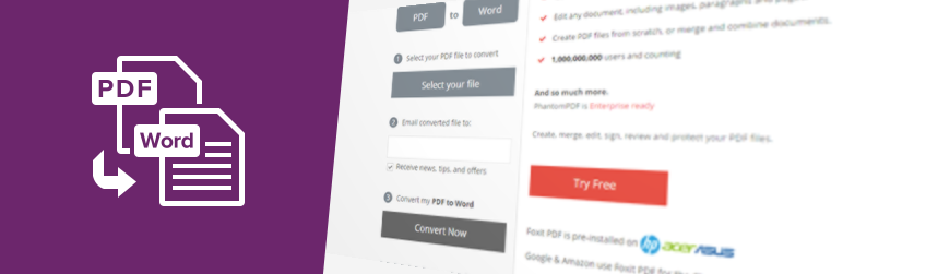 The fast, easy way to convert PDF to Word