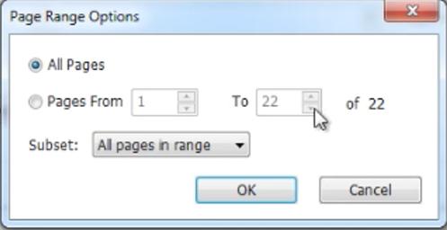 Page Range Options