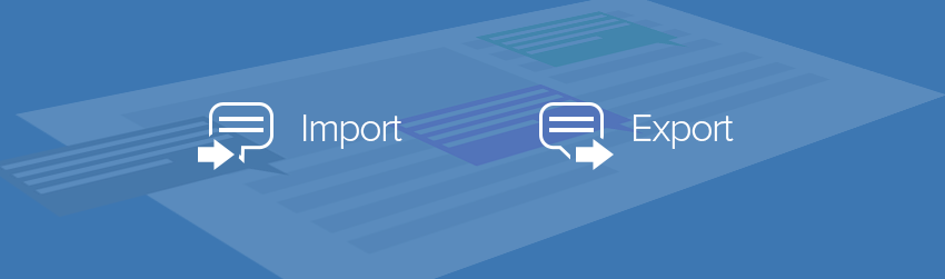 Using Comments Data Import and Export