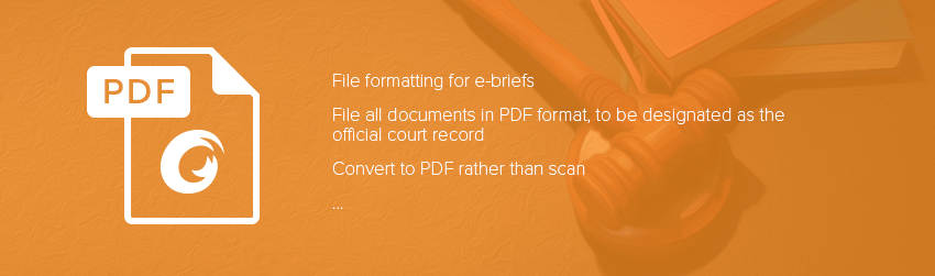 The evolution from e-filing to e-briefing in the appellate court