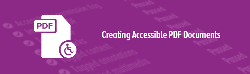Creating accessible PDF documents