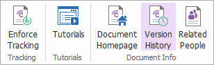 To view all versions of a file, click on Version History in the upper right.