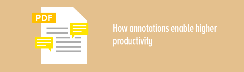 How annotations enable higher productivity