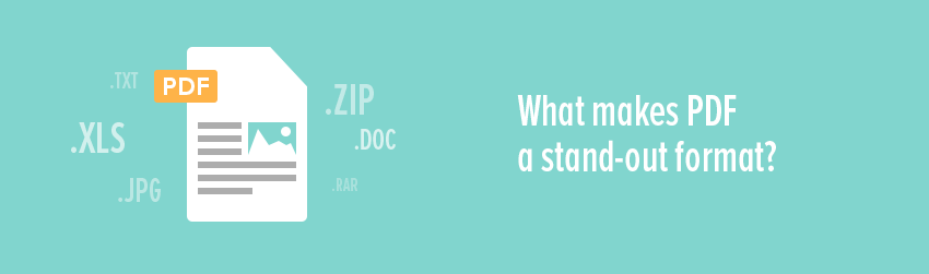 What makes PDF a stand-out format?