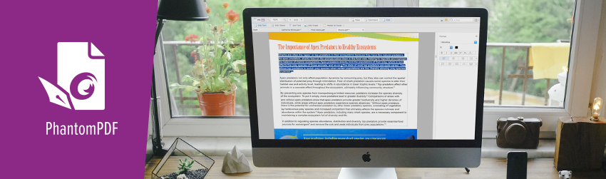 Edit PDF Files on a Mac with PhantomPDF Mac