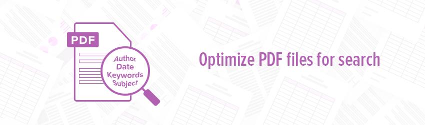 Optimize PDF files for search