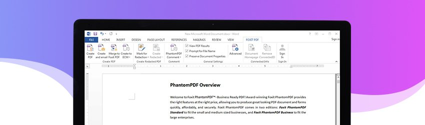 Foxit PDF Creator Add-in for Office
