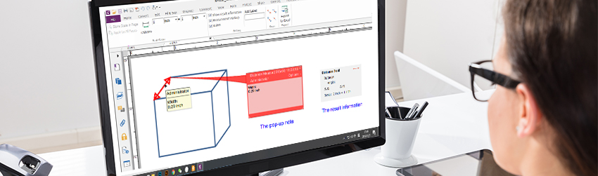 How to measure distances and areas in PDF documents