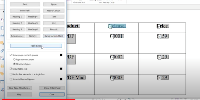 Make PDF Document Tables More Accessible - 1