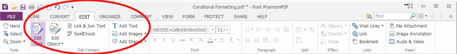 How to edit a PDF document - 1