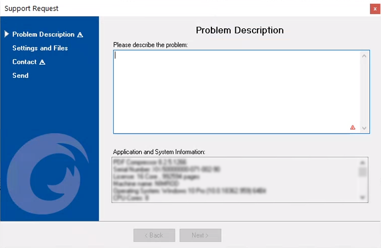 Screenshot_Support Request Popup_1