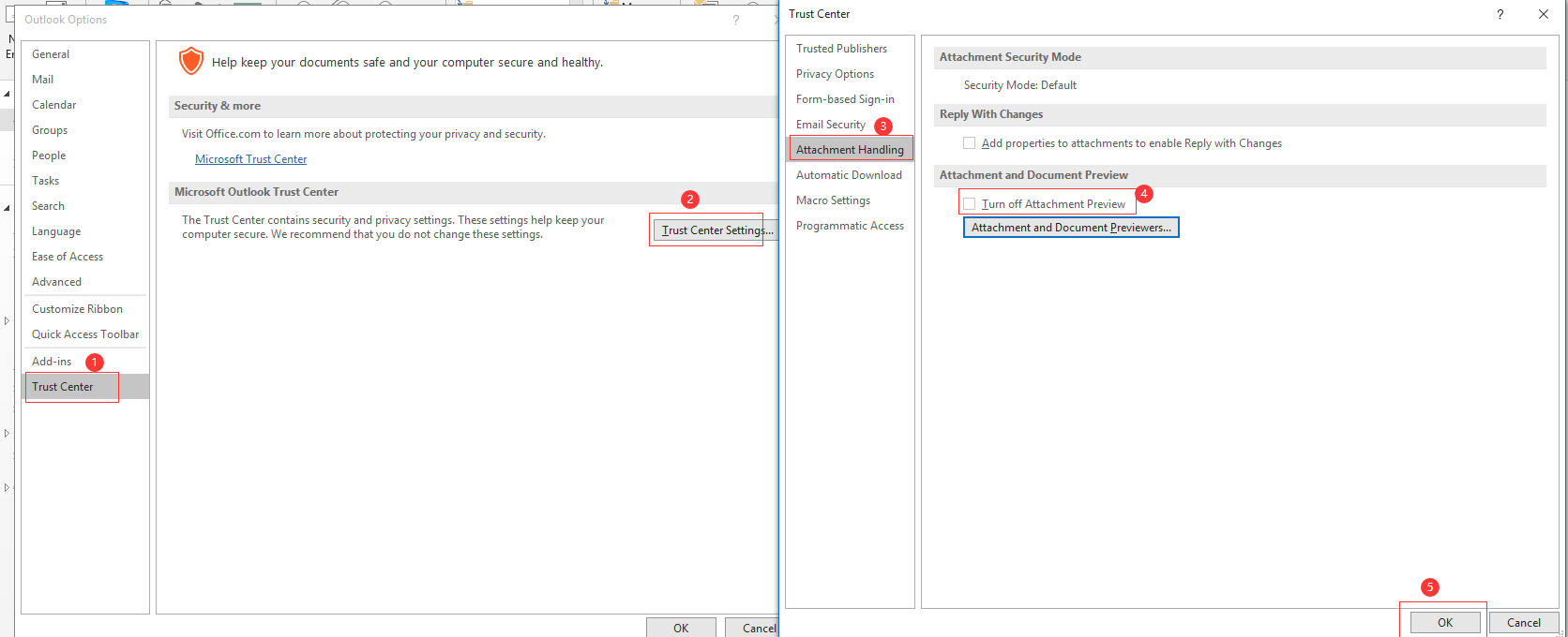 How to preview PDFs in Outlook with single click - 4