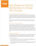 Why Enterprises Should Standardize on a Single PDF Provider