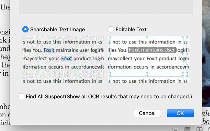 How to OCR PDF files with PDF Editor Mac