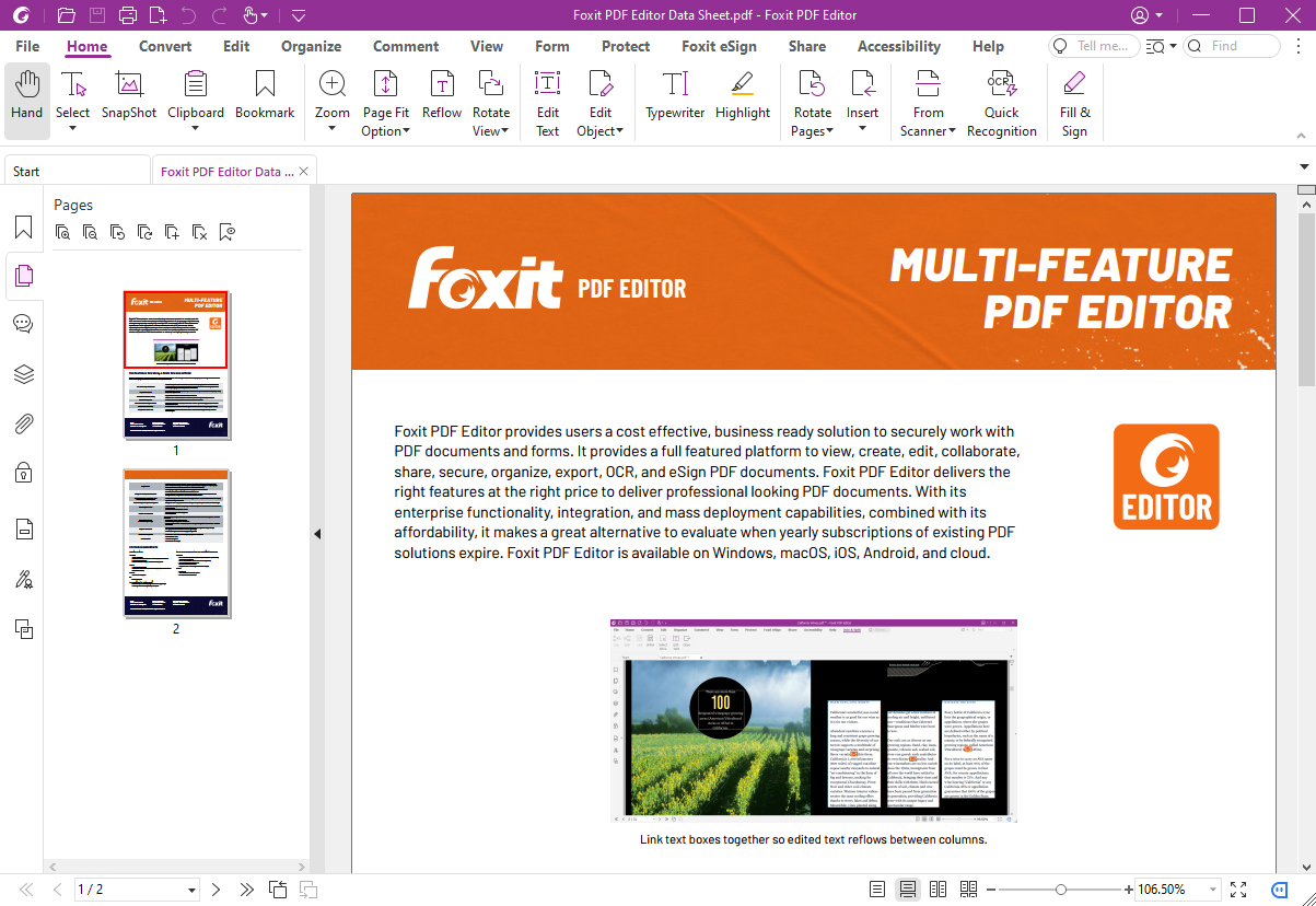 Click to view Foxit PhantomPDF Standard screenshots