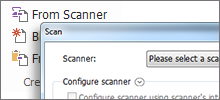 Scan documents into PDF