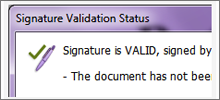 Verify digital signature