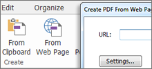 Archive webpages and websites into PDF files within PhantomPDF