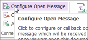 Configure Open Message