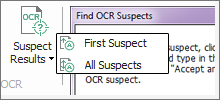 Correct suspect OCR results