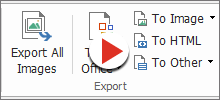 Export PDF to Word & other formats
