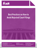 Best Practices on How to Avoid Rejected Court Filings