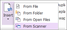 Scan to PDF In Existing Documents