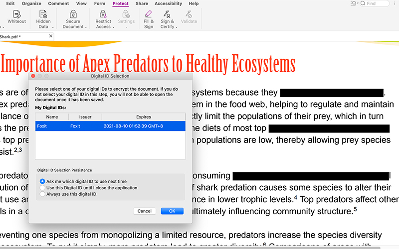 How to Protect PDF files with PDF Editor Mac