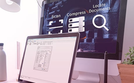 Scan, Compress, and Locate Documents