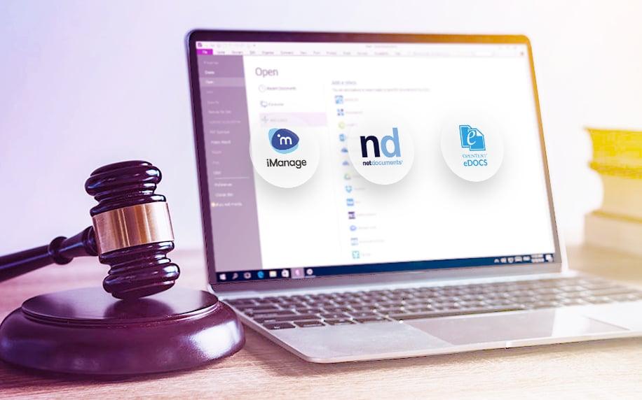 iManage, NetDocument, and eDOCS Integration